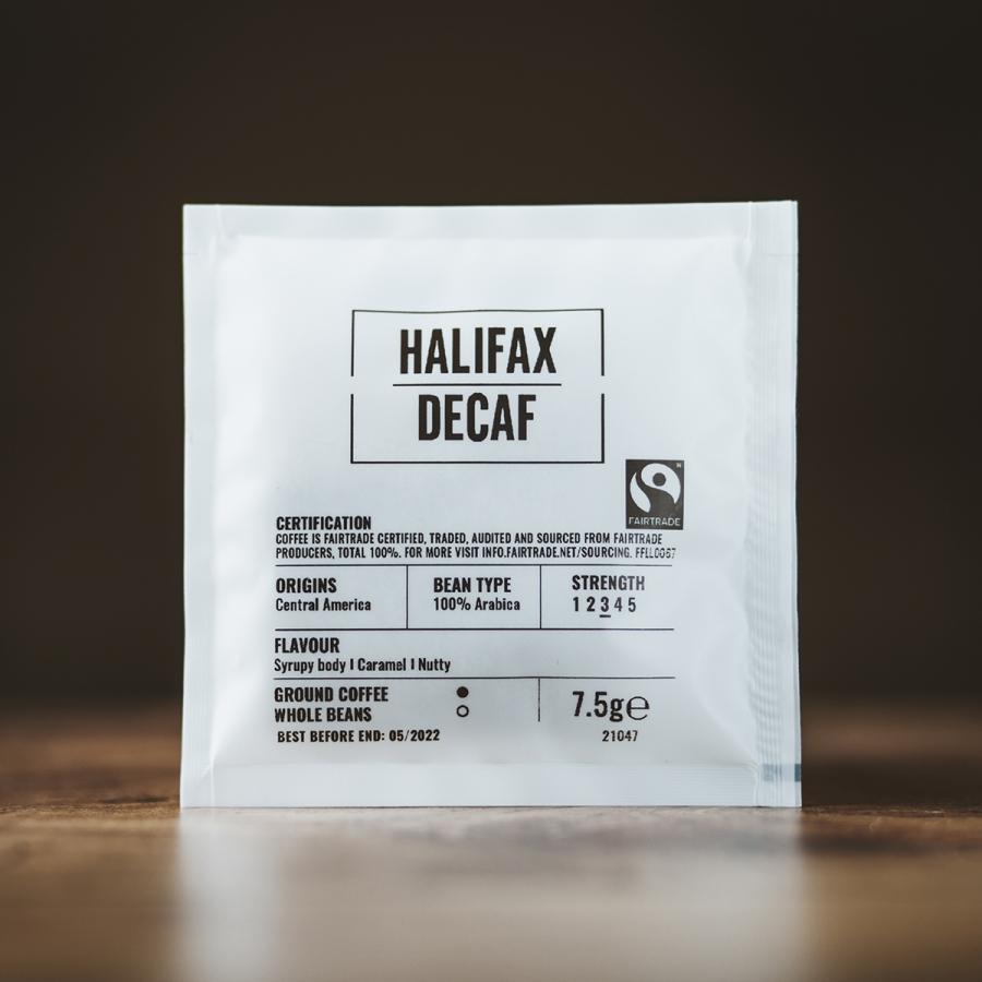 Halifax Decaf Coffee Bags