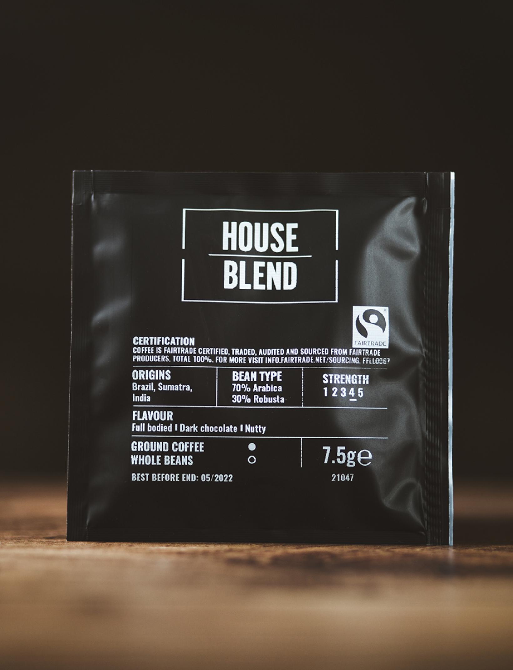 House Blend Fairtrade Coffee Bags