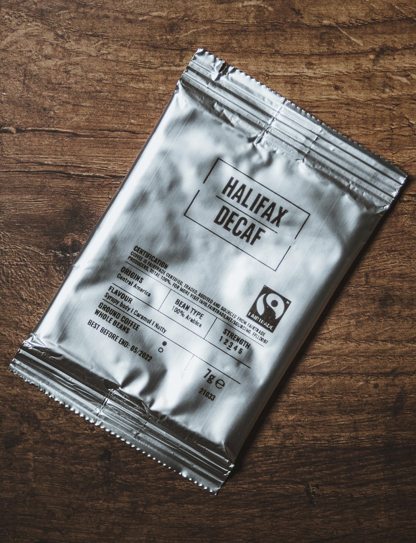 Halifax Decaf Espresso Sachets 7g