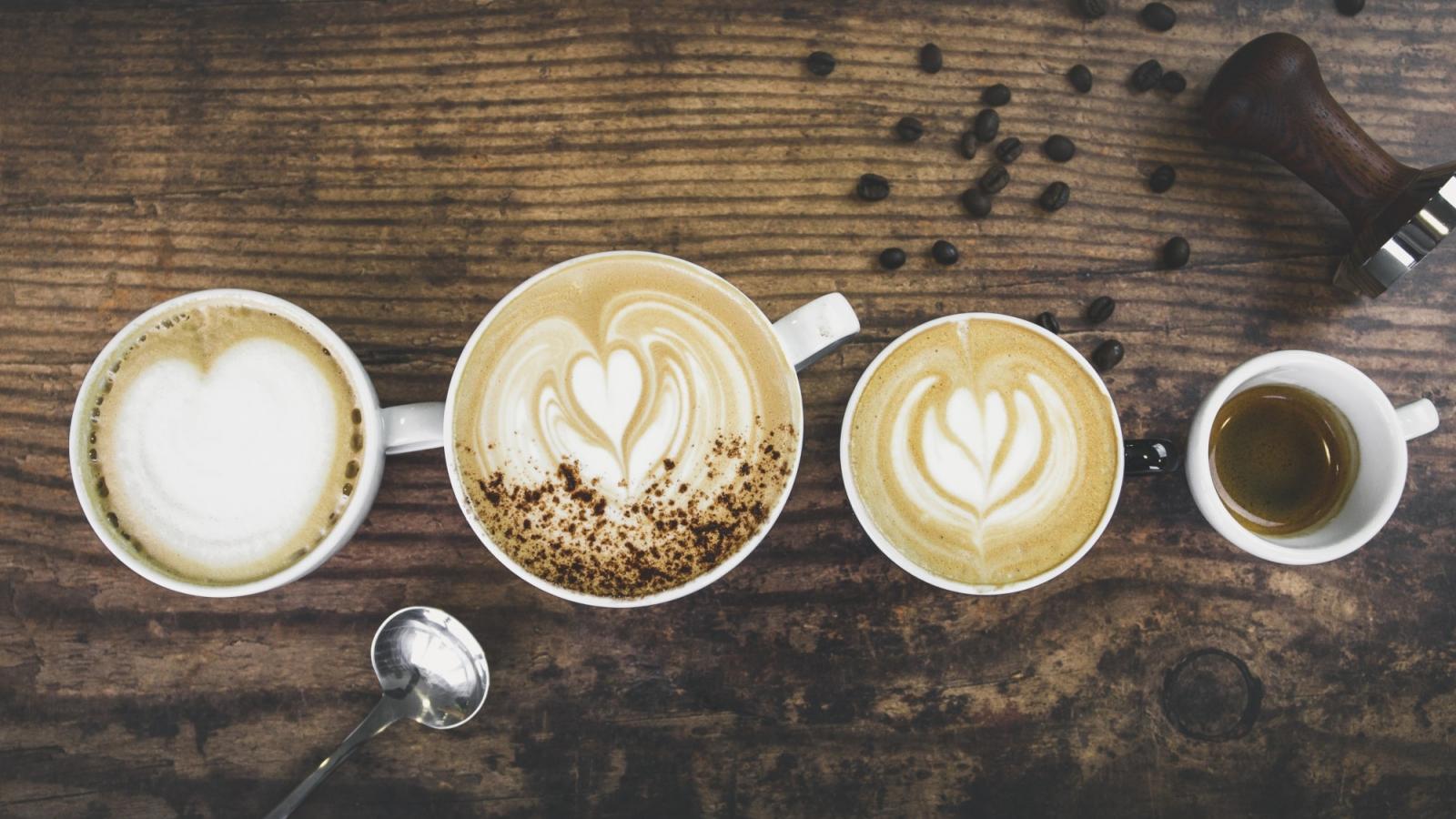 A range of espresso drinks